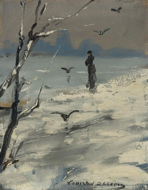 Oil-Paintings-Elegant-Woman-on-a-Winters-Walk